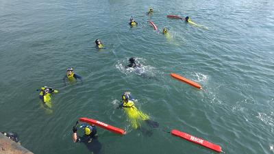 160315 바다에 입수하여 익수자 인명구조 교육 중인 안전센터 현장요원..png